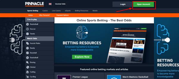 Регистрация в Pinnacle - онлайн залози, спортни залози и казино игри